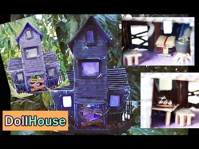 Manualidades de Halloween : Casa Embrujada , Doll haunted House - BeagleArts ♥