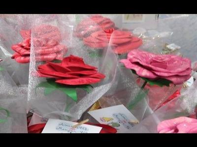 MANUALIDADES fáciles para hacer en CASA : ROSAS DE GOMAEVA.FOAMI - BeagleArts ♥