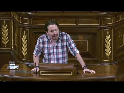 Pablo Iglesias en la sesión de investidura previa a la segunda votación