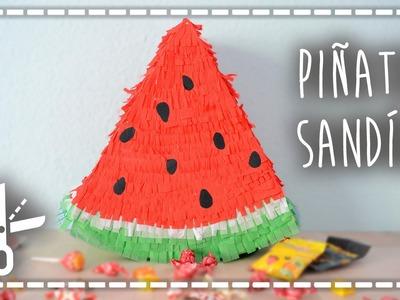 Piñata DIY veraniega de sandía