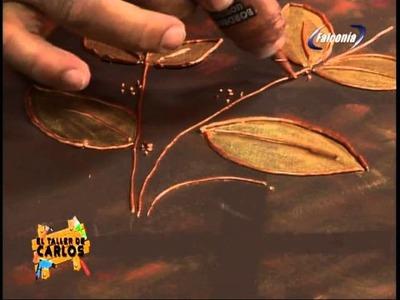 Técnica de pintura tridimensional