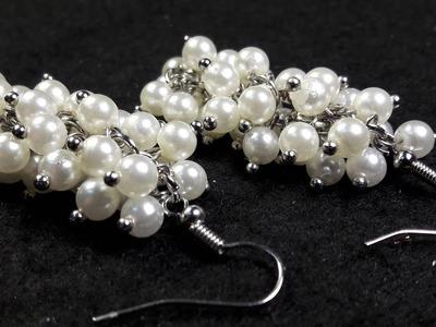 Aros de Perlas en forma de Racimos. Clase #28!!!