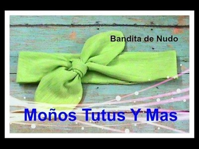 BANDITA DE NUDO Paso a Paso KNOTTED HEADBAND Tutorial DIY How To PAP