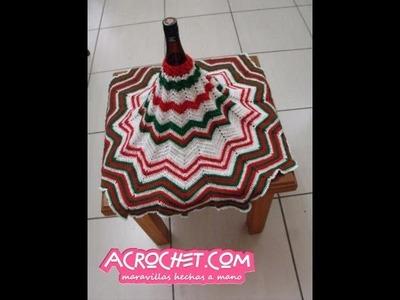 Blog Acrochet - Tejamos un piso de àrbol para navidad parte 2 - Gisella Kamiche