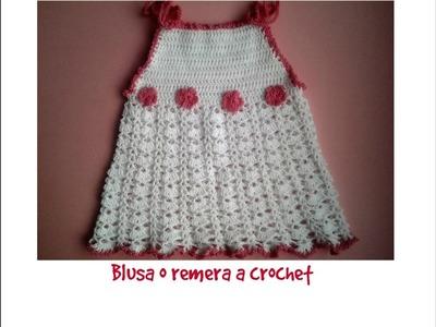 Blusa o remera a crochet 1ª parte