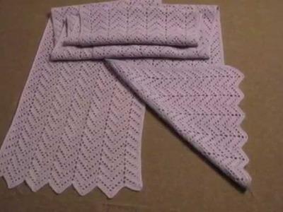 Bufandas tejidas a dos agujas
