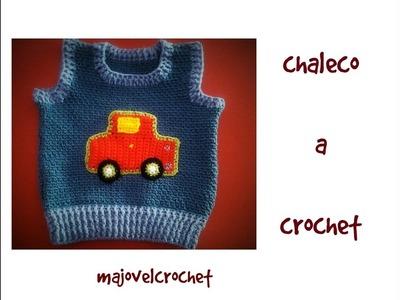Chaleco a crochet muy facil 2ª parte