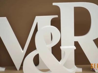 Cómo hacer letras gigantes para bodas