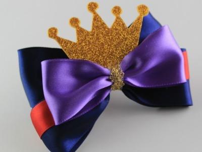 Como Hacer Originales Lazos para el Pelo de la Reina Malefica   DIY - Hair Bows Tutorial