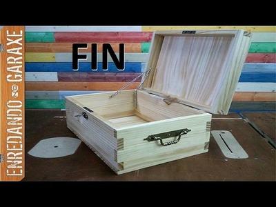 Cómo hacer un bául de madera. P3 bisagras, agarres, lijado y barniz