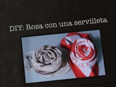 ¿Cómo hacer un rosa en una servilleta? - Ahorradoras.com