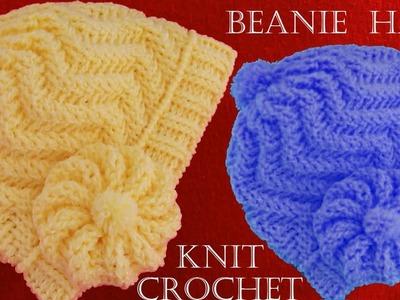 Como tejer gorro boina a Crochet o ganchillo en punto relieve