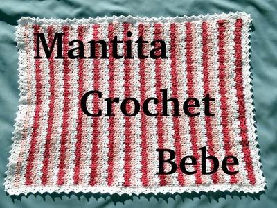 Como tejer una Mantita en tejido crochet para bebe tutorial paso a paso.