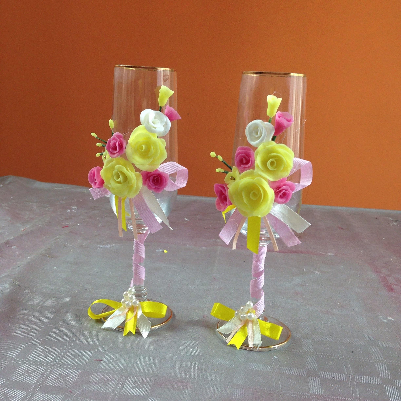 Decoraci n de copas con rosas y cintas - Decoracion con cintas de papel ...