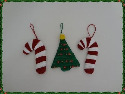 Decoracion navideña con hilo