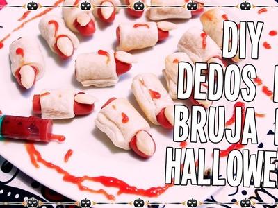DIY Dedos de bruja para Halloween receta de cocina