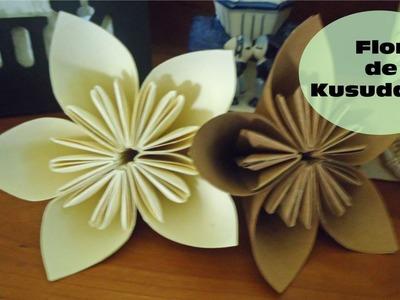 Flor de Kusudama: Cómo Hacer Una Flor De Kusudama Con Papel | Flores de origami | Flores de papel