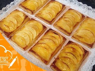 Hojaldres de Manzana con Crema Pastelera