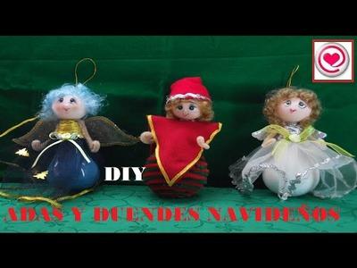 Manualidades: Como hacer angeles y hadas con focos [Reciclaje]  Adornos Navideños- TODO EN UNO