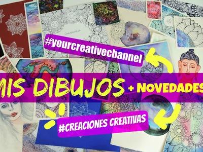 MIS DIBUJOS (Mandala, zentangle art, acuarela) + NOVEDADES EN EL CANAL