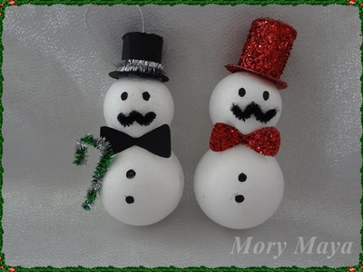 Muñeco de nieve, manualidad navideña.
