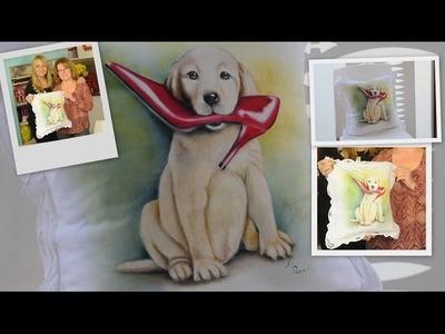 Pintura en Tela Paso a Paso - Pintar un Perrito - Ana Maria Paravic