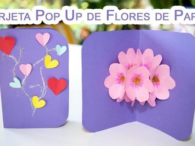 Tarjeta Pop Up de Flores 3D de Papel