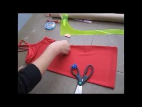 Transforma una blusa a un vestido de embarazo (Modelo 1)