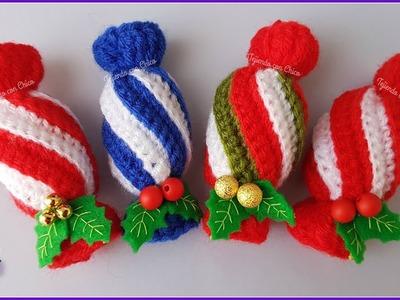 Tutorial amigurumi - Caramelo navideño