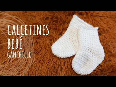 Tutorial Calcetines Fáciles Bebé Ganchillo | Crochet