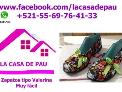 Zapatos tipo Valerina muy fácil