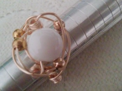 Anillos de alambrismo anillos con perlas cursos de bisuteria gratis alambrismo bisuterias