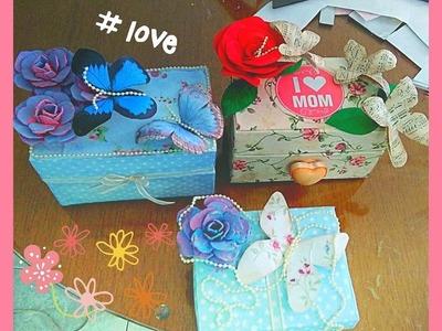 Manualidades dia de las madres, manualidades con caja de leche, joyero shabby chic,  reciclaje