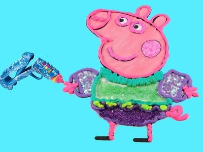 Peppa Pig en español manualidades para niños de La Cerdita Peppa con Doh Vinci  Videos de juguetes V