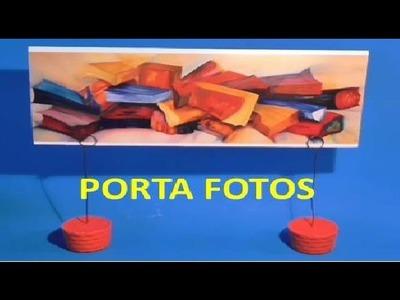 PORTA FOTOS POSITS TARGETAS NOTAS muy fácil con escayola- Manualidades Ahora