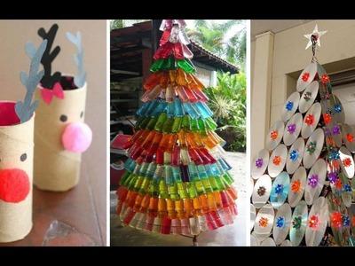 +66 Ideas Navideñas con Material Reciclado DIY -Arboles de Navidad y Adornos con Material Reciclado