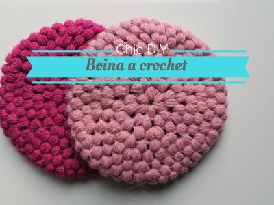 Boina crochet  punto piña