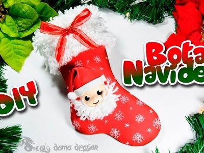 Bota o calcetín navideño en foamy o goma eva | DIY Especial Navidad