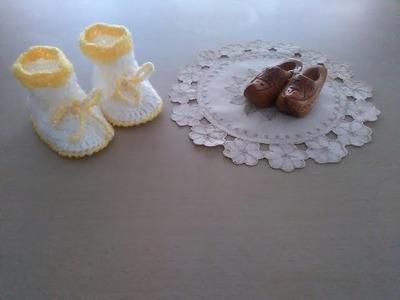 Botitas o zapatitos en crochet