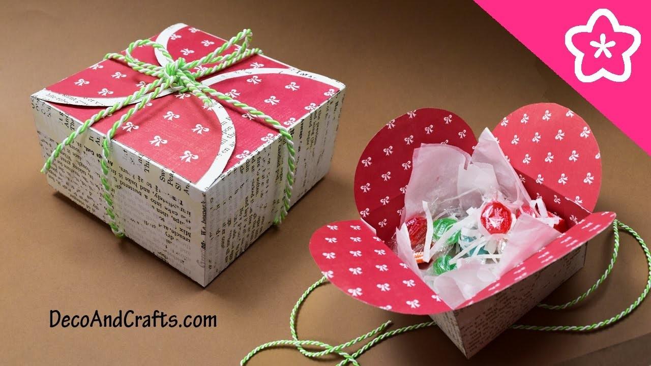 Cajita de regalo con cartulina para esta Navidad un sencillo y lindo detalle - DecoAndCrafts