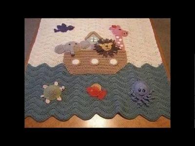 Cobijas - Mantas tejidas en crochet para bebe
