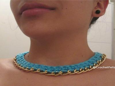 Collar de Crochet y Cadena :) Tutorial
