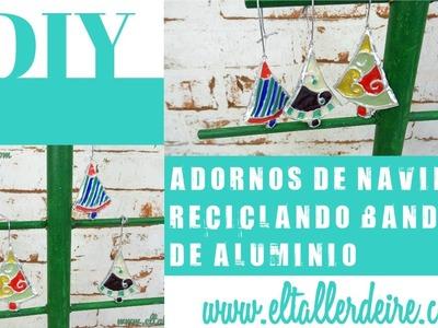 Cómo hacer adornos de Navidad reciclando bandejas de aluminio - DIY