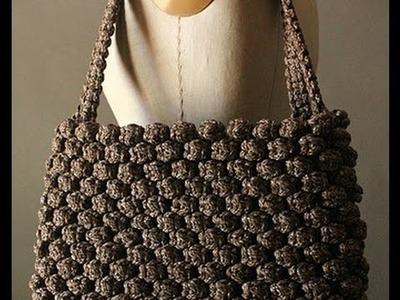 Como hacer morrales tejidos a crochet