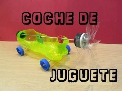 Cómo hacer un coche con botellas de plástico || Banda elástica coche accionado