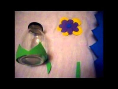 Como hacer un dulcero con un frasco