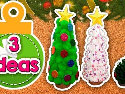 DIY | 3 Ideas para crear Arbolitos de Navidad | FÁCIL | PumitaNegraArt