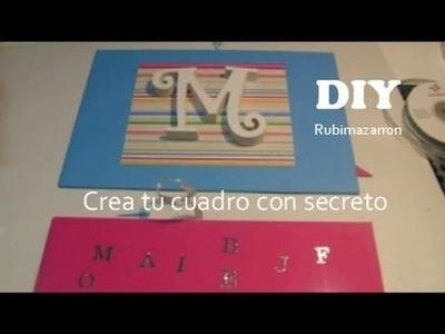 Diy. Cuadro de Scrapbooking con secreto