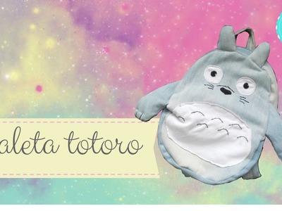 DIY TOTORO COMO HACER MALETA O MOCHILA DE TOTORO.TUTORIAL