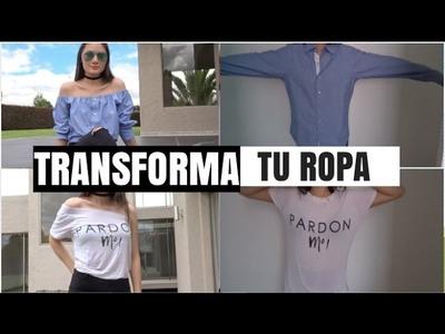 DIY- TRANSFORMA TU ROPA VIEJA  (M3_VLOGS)